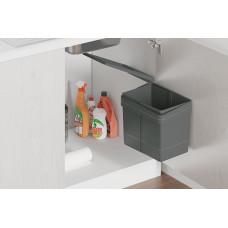 Ведро для мусора (15л), пластик темно-серый (820110101)