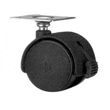 Ролик d=40mm площадка с тормозом GTV (KM-0H40-D20)