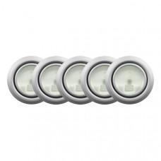 Набор 5 светильников сатин GTV (OM-ZH5200-52)