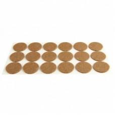 Подпятник войлочный коричневый d=24mm (33 шт)