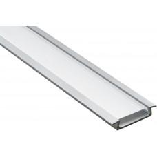 Профиль для LED ленты врезной широкий CAB252, 2 м