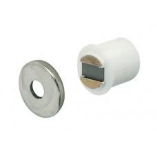 Магнит мебельный врезной D=9 мм белый HAFELE
