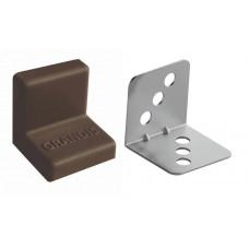 Уголок металлический с крышкой 25х25 коричневый GRANDIS