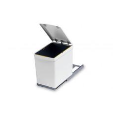 Ведро для мусора (16л) выдвижное, пластик белый (280.B)