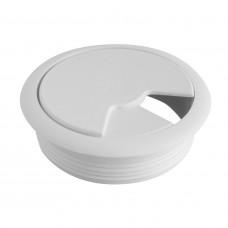 Пропуск для кабеля 60 мм белый