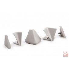 Комплект аксессуаров для плинтуса треугольного СЕРЫЙ