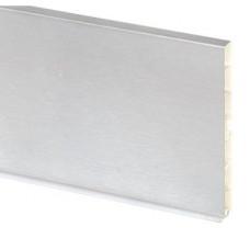 Планка цокольная ПВХ алюминий гладкий L=4000mm,H=150mm