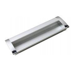 Ручка врезная UA-326-128 хром/алюминий (UA-01-326128)