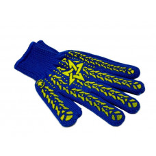 Перчатки с точкой ПВХ синие 587