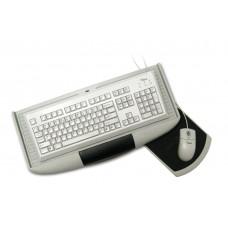Полка под клавиатуру c подставкой серая GTV