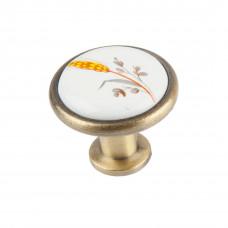 Ручка фарфоровая кнопка колосок