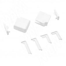 Комплект (2 загл.,1 угол внутр.,1 наруж.) белый Volpato