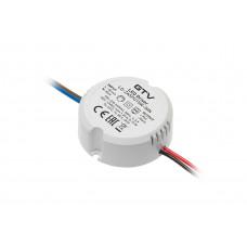 Трансформатор GTV для LED 12В/15Вт круглый D=55 мм, H=22 мм