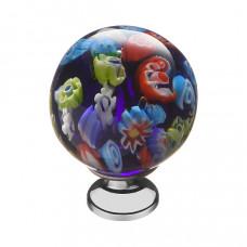 Ручка кнопка цветное стекло+хром (KF11-14)