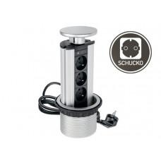 Удлинитель для офиса 100 мм 3 розетки серебро (AE-BPW3GS-80)