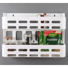Этажерка для пряностей пластик белая 380х70х350 HAFELE