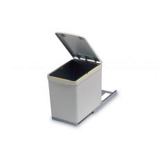 Ведро для мусора (16л) выдвижное, пластик серый (280.G)