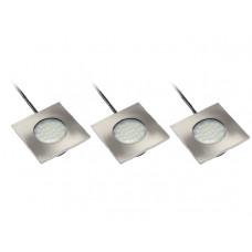 Набор светильников MARBELLA 6400K LED холод.бел, 3шт GTV