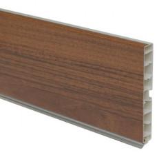 Планка цокольная ПВХ орех темный L-4000 H-100 мм