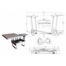 Механизм трансформации стола № 587 (к-т с амортизаторами)