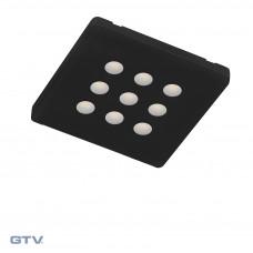 Светильник EVITA теплый белый GTV черный (LD-EI06CB-CZ)