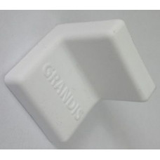 Уголок металлический с крышкой 25х25 белый GRANDIS