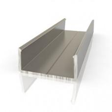 Профиль алюминиевый С-16мм, 2,7 м (462)