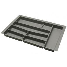Лоток для столовых приборов в базу 800 графит (32-76-NN80-G)