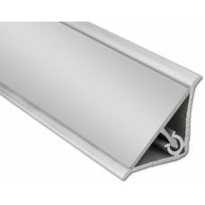 Плинтус алюминиевый гладкий 3,05 м Россия