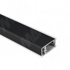 Плинтус Volpato черный матовый 16х26 мм, L=4200
