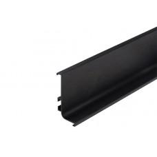 Ручка-профиль GOLA с одним скруглением черн 8006.85S..L41 4м