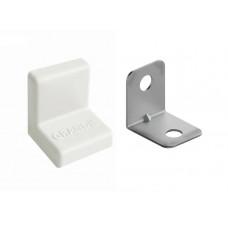 Уголок металлический с крышкой 20х20 белый GRANDIS