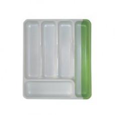 Лоток для столовых приборов раздвижной пластик 368х310-530