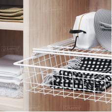 Крепление боковое для корзин в шкаф белое