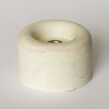 Стопор дверной резиновый белый 25 мм (LDS010WH)