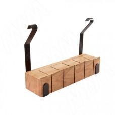 Полка для ножей релинговой системы черный/дуб LANDSBY