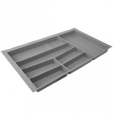 Лоток для столовых приборов в базу 900 серый