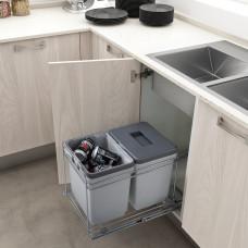 Набор для раздельного сбора мусора в базу 400 мм (2х15 л)